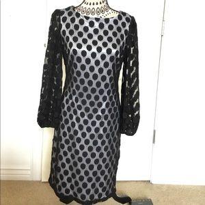 Polka dots and lace dress